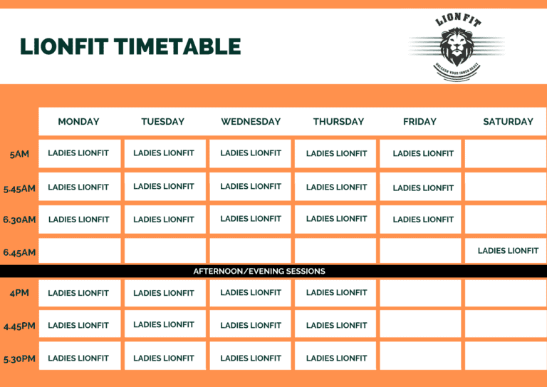 Timetable - Core Fitness